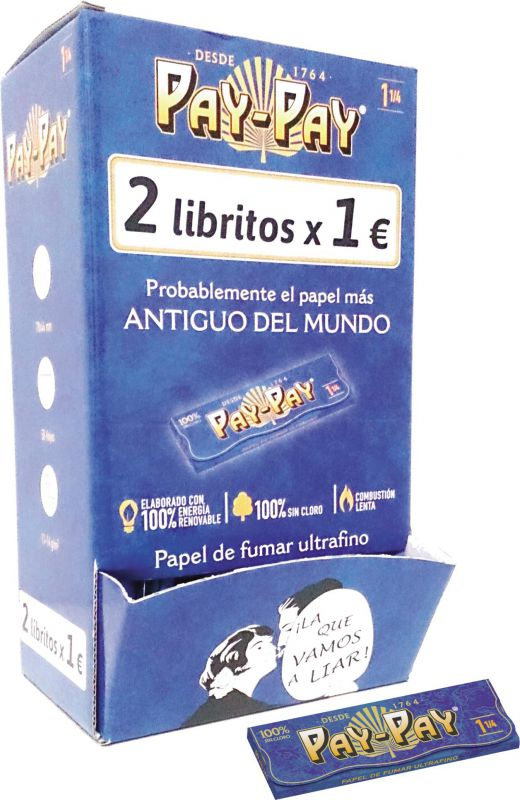 EXPOSITOR 2x1 PAPEL DE FUMAR PAY-PAY 1.1/4 (1x100)