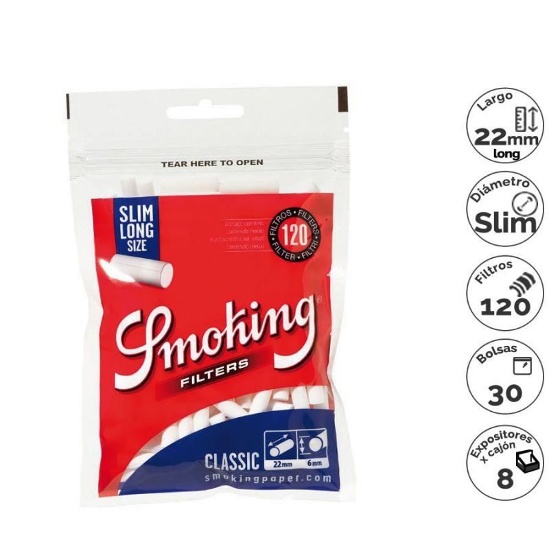 filtros smoking slim long 120x30