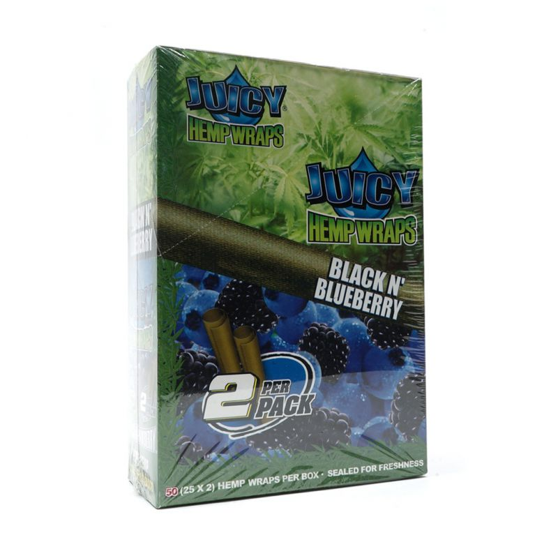 JUICY HEMP WRAPS BLUE 2 BLUNTS 1 X 25