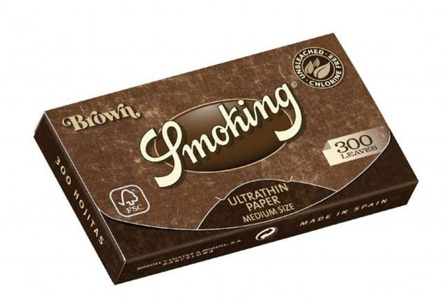 papel de fumar smoking bloc 300 brown