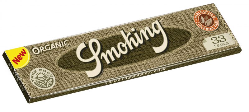PAPEL DE FUMAR SMOKING ORGANICO 1 1/4 - 1x25