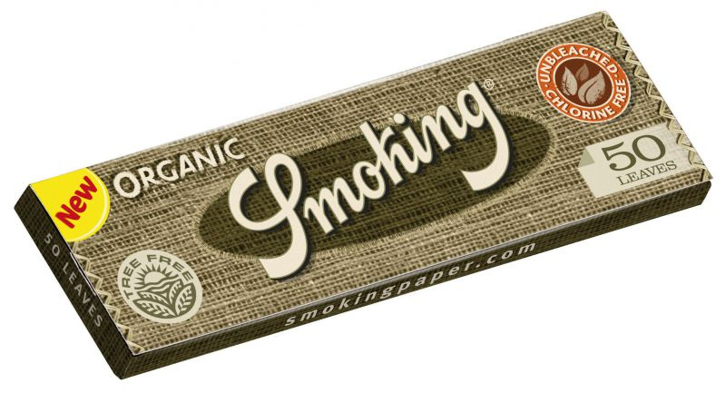 PAPEL DE FUMAR SMOKING ORGANICO KING SIZE - 1x50