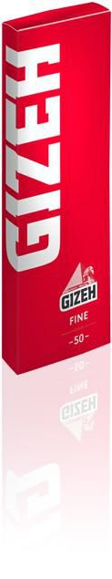 PAPEL GIZEH 70 mm ROJO  1X50