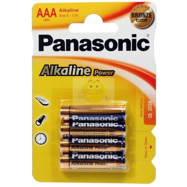 pilas panasonic alk power bronze lr03 aaa  (bliste