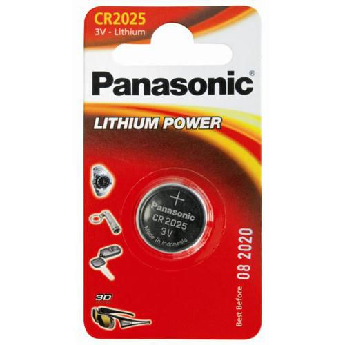 pilas panasonic cr2025 3v  litio ( blister 1 pila)