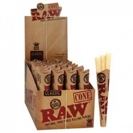 RAW CONE KING SIZE 32 PACKS X 3 CONES