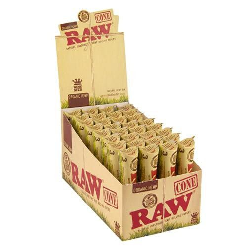 RAW CONO KING SIZE 32 PACKS x 3 CONES ORGANICO