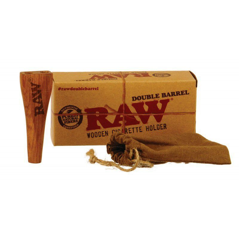RAW DOUBLE BARREL HOLDER WOODEN