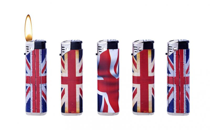 b-50 encendedores electronicos prof uk flag
