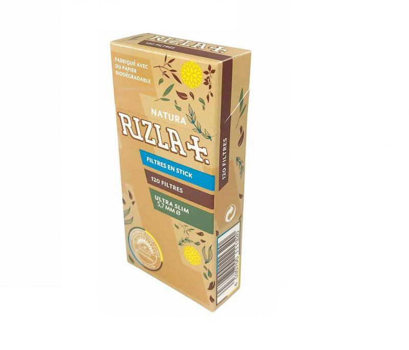 RIZLA ULTRA SLIM FILTER TIPS BIO NATURA 5.7 1X20