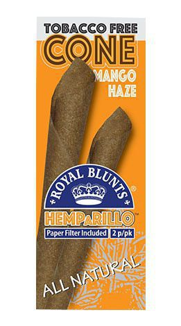 ROYAL BLUNTS MANGO HAZE 2 HEMP CONES 1X10