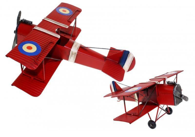 FIGURA METAL AVION SPAD