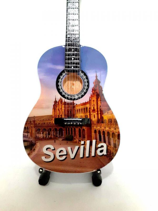 REPLICA MINI GUITARRA 25 CM SEVILLA