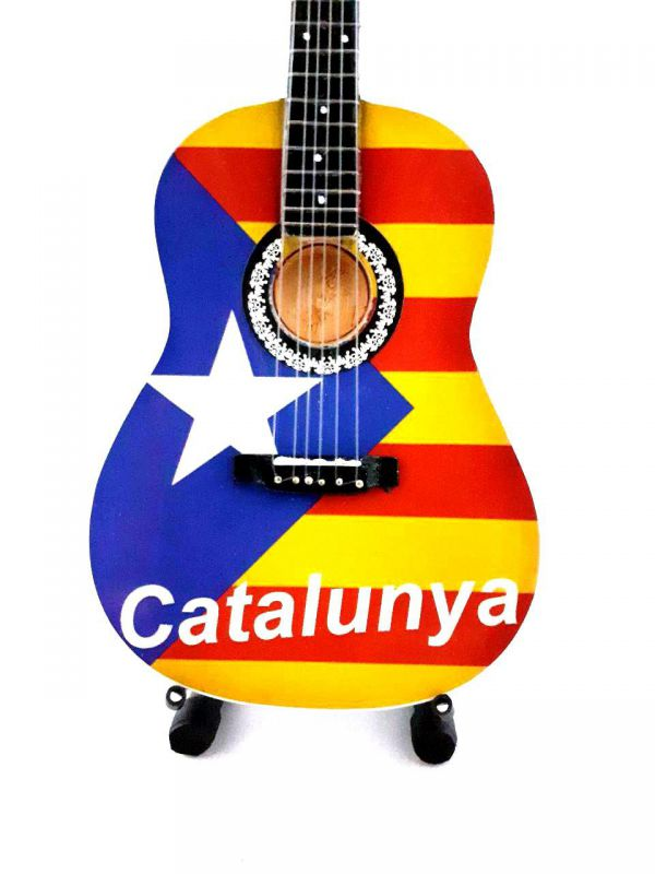 REPLICA MINI GUITARRA 25 CM CATALUNYA