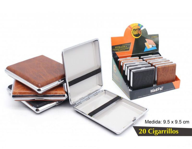 EXP. 12 PITILLERAS METAL 20 CIGARRILLOS