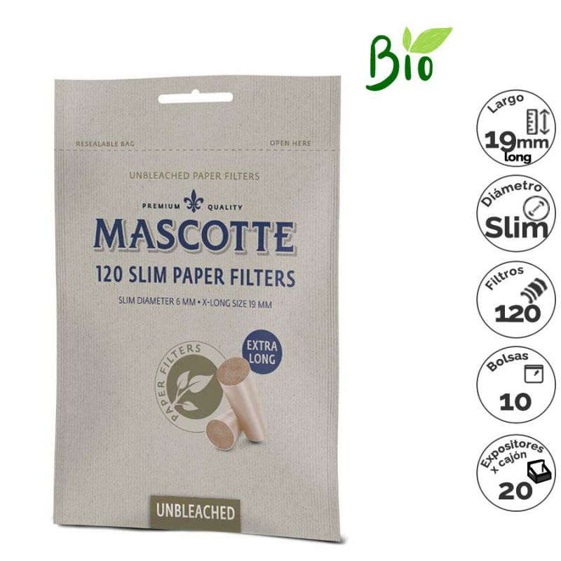 exp.120 filtros mascotte slim x-long natural(1x10)