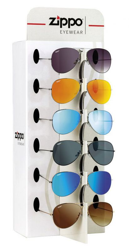 expositor 9 gafas zippo sol obp-9a