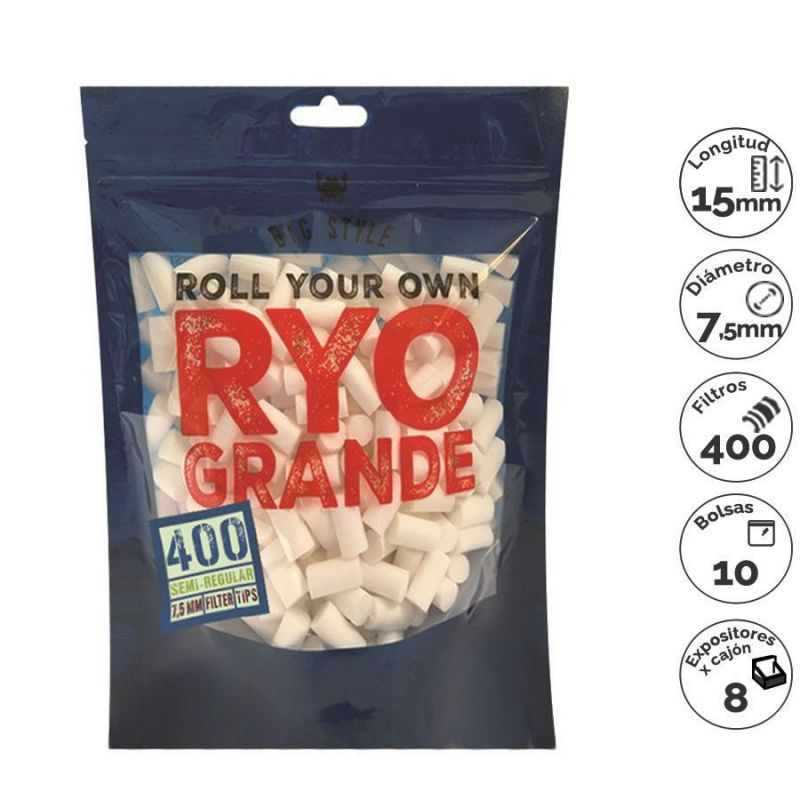 filtros ryo 400 semi-regular (1 x 10)