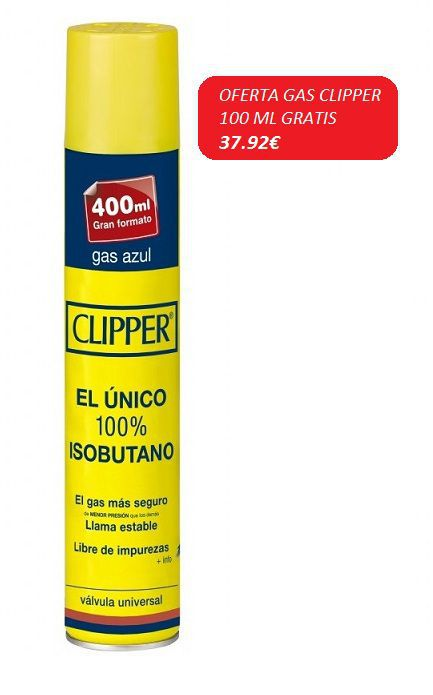 caja gas clipper 400 ml x 24 uds.