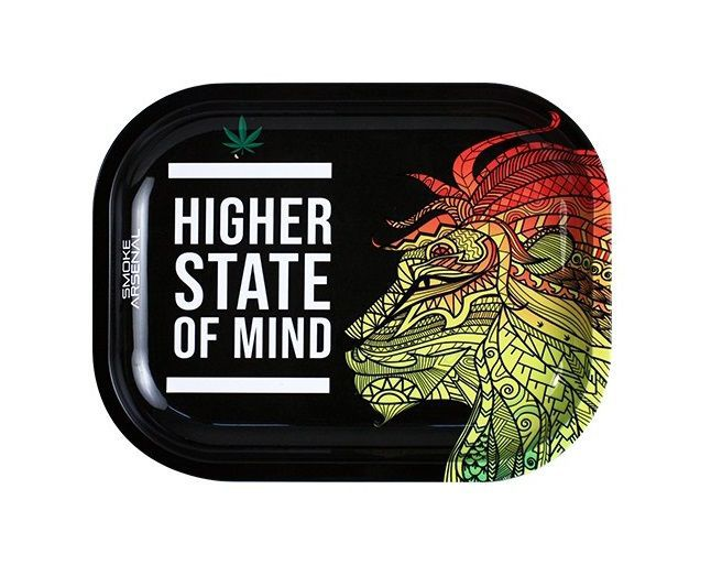 bandeja metal higher state of mind 18 x 14 cm