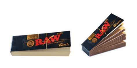 raw paper tips black edition 1 x 50