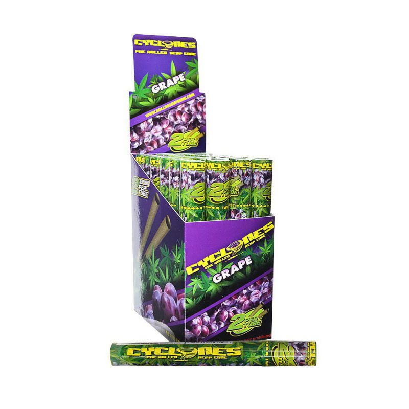 CYCLONES JUICY JAY HEMP PURPLE (UVA) 12 X 2