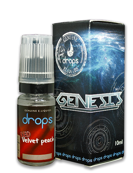 DROPS LIQUID RED VELVET PEACH 00MG - 10 ML